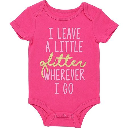 Babies with Attitude Baby Girls Glitter Bodysuit