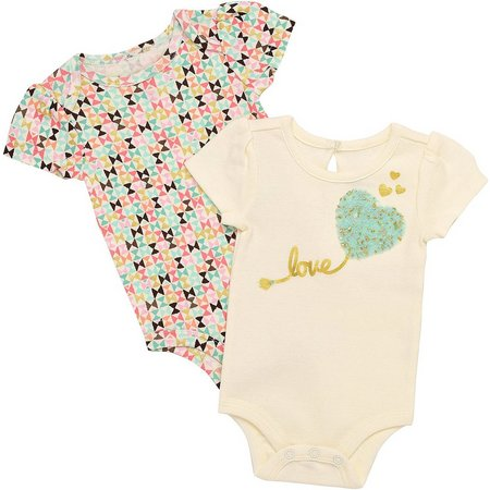 Baby Starters Baby Girls 2-pk. Love Bodysuits