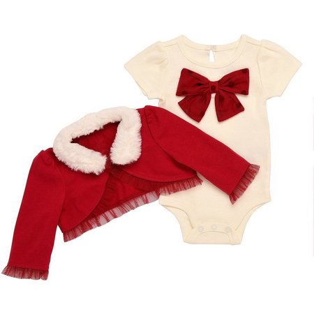 Baby Starters Baby Girls Bow Shrug Bodysuit Set