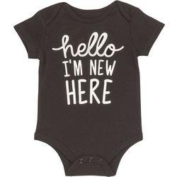 Baby Starters Baby Girls Hello I'm New Bodysuit