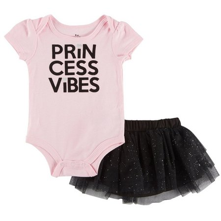 Babies with Attitude Baby Girls Princess Vibes Skirt