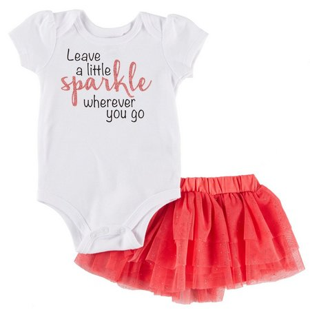 Babies with Attitude Baby Girls Leave Sparkle Skirt