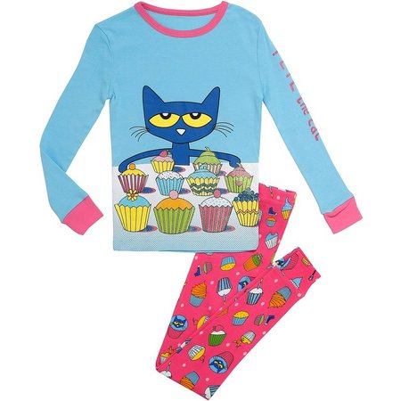 Pete The Cat Baby Girls Cupcake Pajama Set