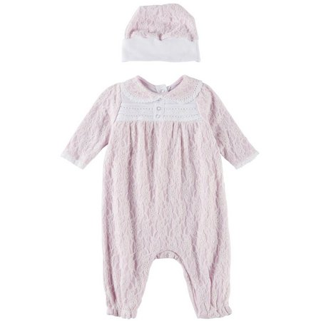 Harry & Violet Baby Girls Sinclaire Coverall Set