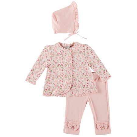 Harry & Violet Baby Girls 3-pc. Floral Layette
