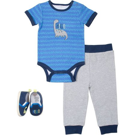 Baby Gear Baby Boys 3-pc. Hello Layette Set