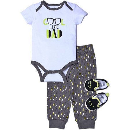 Chick Pea Baby Boys 3-pc. Cool Like Dad