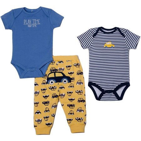 Chick Pea Baby Boys 3-pc. Play Time Layette