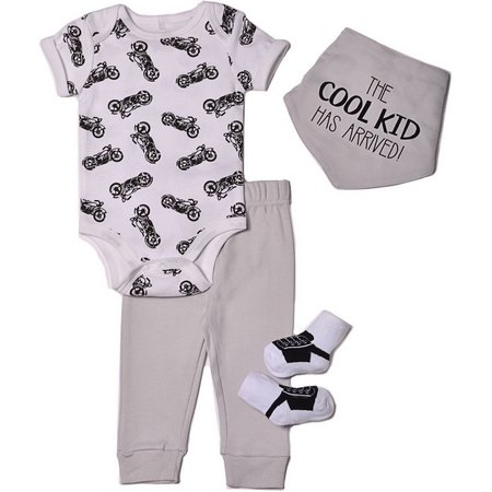 Chick Pea Baby Boys 4-pc. Cool Kid Layette