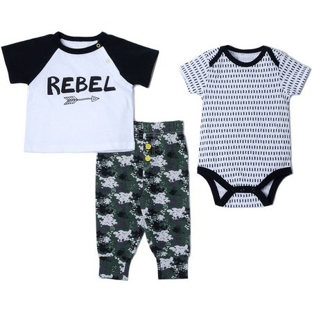 Baby Gear Baby Boys 3-pc. Rebel Layette Set