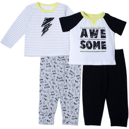Baby Gear Baby Boys 4-pc. Awesome Jogger Pants