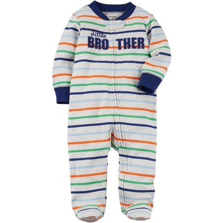 Carters Baby Boys Stripe Little Brother Sleep &