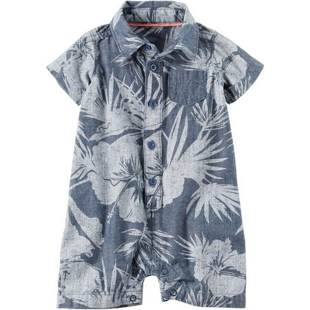 Carters Baby Boys Palm Print Romper
