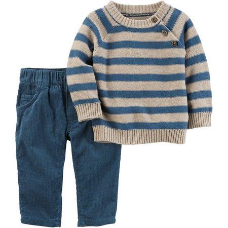 Carters Baby Boys Stripe Sweater Pants Set