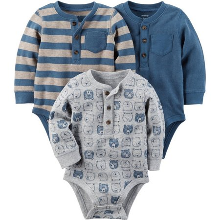 Carters Baby Boys 3-pc. Henley Original Bodysuits