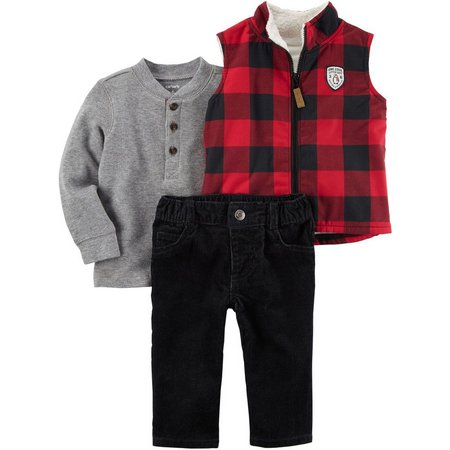Carters Baby Boys 3-pc. Vest Layette Set