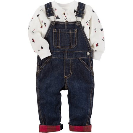 Carters Baby Boys Overall Bodysuit Set