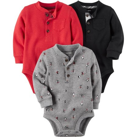 Carters Baby Boys 3-pk. Holiday Thermal Bodysuits