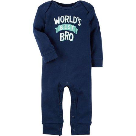 Carters Baby Boys World's Best Bro Jumpsuit