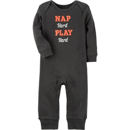 Carters Baby Boys Nap Hard Play Hard Jumpsuit