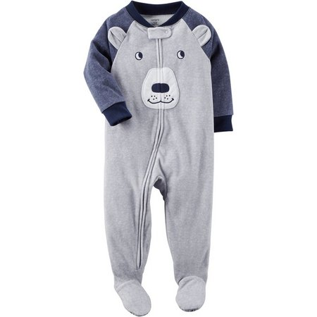 Carters Baby Boys Bear Fleece Sleep & Play