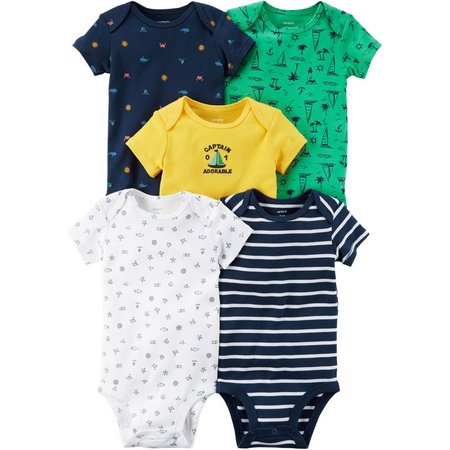 Carters Baby Boys 5-pk. Captain Adorable Bodysuits