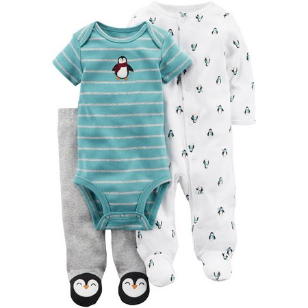 Carters Baby Boys 3-pc. Penguin Layette Set