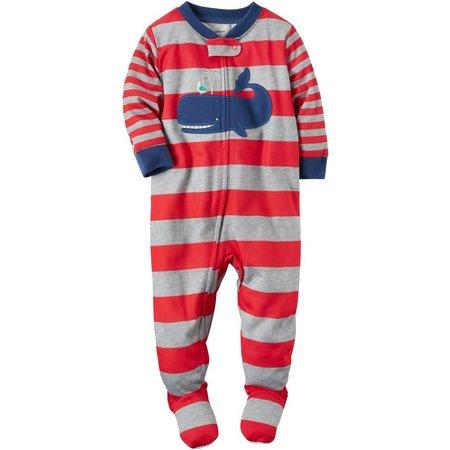 Carters Baby Boys Stripe Whale Sleep & Play