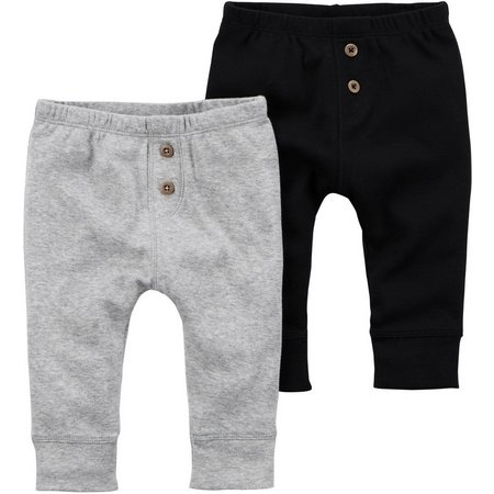 Carters Baby Girls 2-pk. Heathered Pants