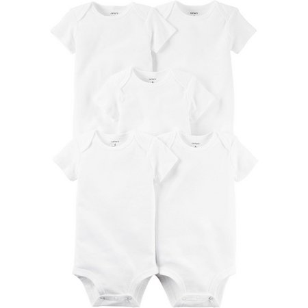 Carters Baby 5-pk. Original Solid Bodysuits