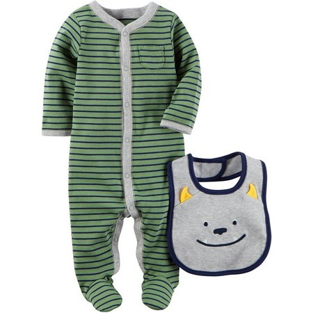 Carters Baby Boys Little Monster Sleep & Play