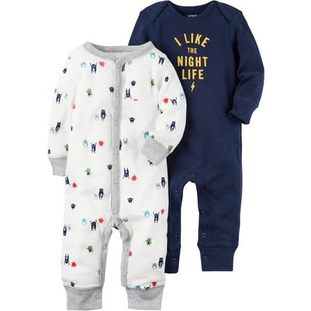 Carters Baby Boys 2-pk. Little Monster Jumpsuits