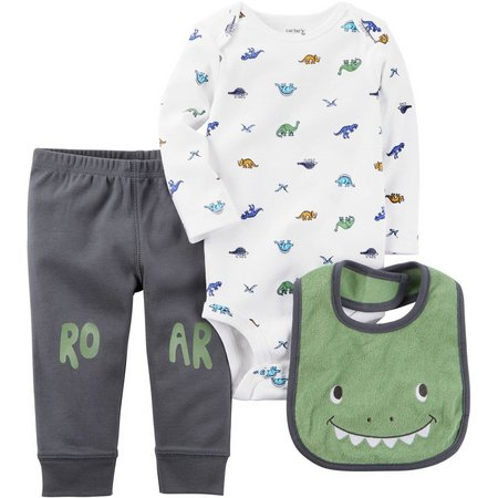 Carters Baby Boys 3-pc. Dinosaurs Layette Set