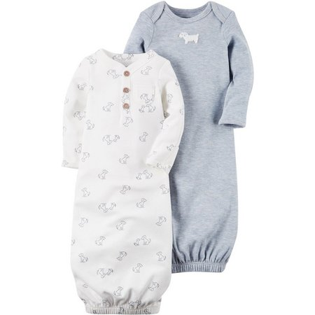 Carters Baby Boys 2-pk. Little Fella Puppy Gowns