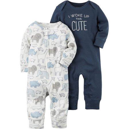 Carters Baby Boys 2-pk. Little Fella Jumpsuits