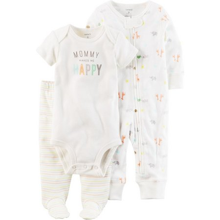Carters Baby Girls 3-pc. Happy Layette Set