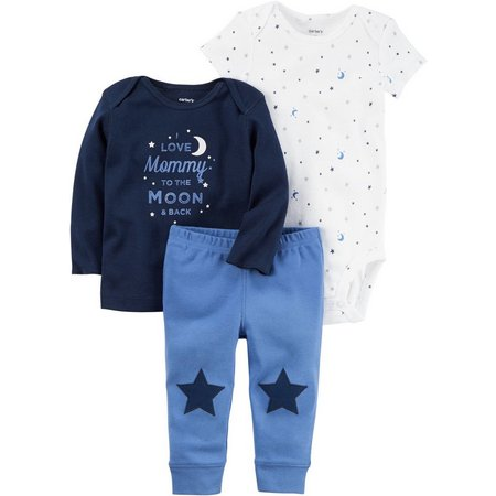 Carters Baby Boys 3-pc. Moon Layette Set