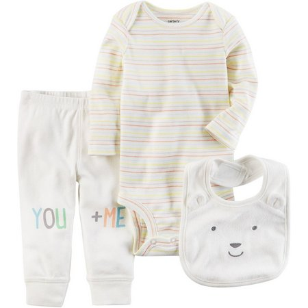 Carters Baby Girls 3-pc. You & Me Layette