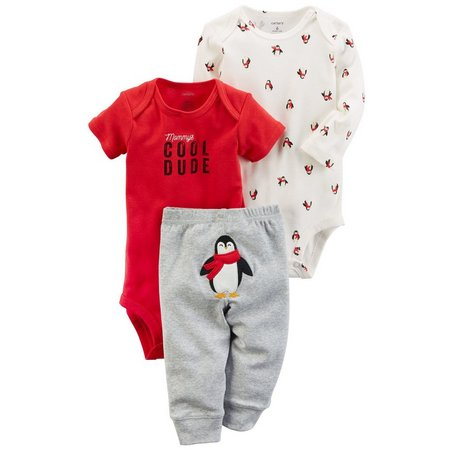 Carters Baby Boys 3-pc. Penguins Layette Set
