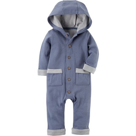 Carters Baby Boys Hooded Babysoft Jumpsuit