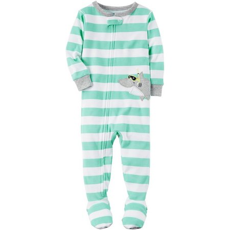 Carters Baby Boys Stripe Shark Sleep & Play