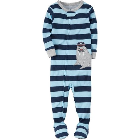 Carters Baby Boys Striped Walrus Sleep & Play