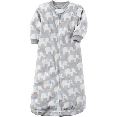 Carters Baby Boys Elephant Microfleece Sleeper Gown