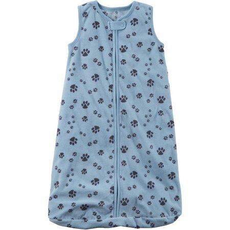 Carters Baby Boys Paw Print Microfleece Sleeper Gown