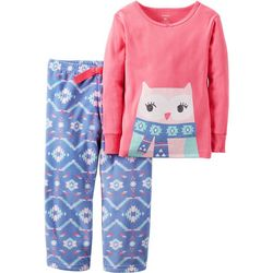 Carters Baby Girls Fleece Owl Pajama Set