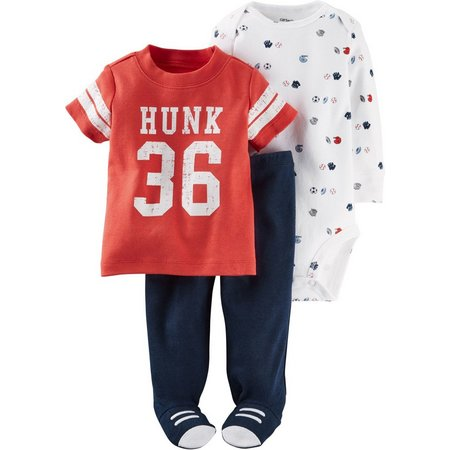 Carters Baby Boys 3-pc. Lil' All Star Layette