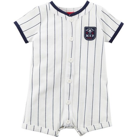 Carters Baby Boys Half-Pint MVP Snap-Up Romper