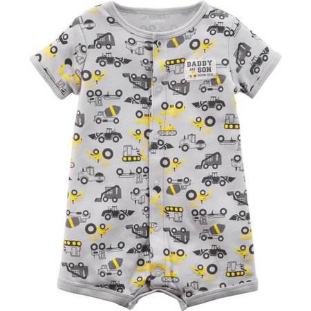 Carters Baby Boys Construction Truck Romper