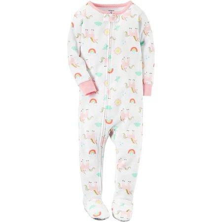 Carters Baby Girls Unicorn Rainbows Sleep & Play
