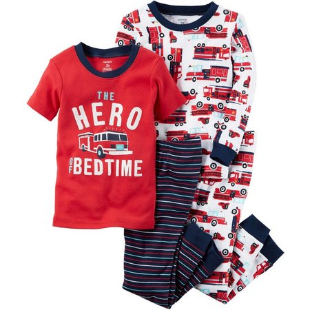Carters Baby Boys 4-pc. Hero of Bedtime Pajama
